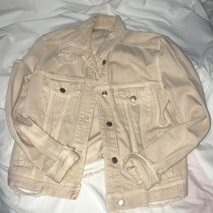 American Eagle Peach or cream jean jacket